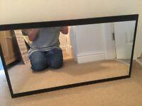 Wooden cabinet mirror