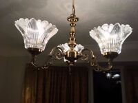 Classic British Manufactured Lights suit Edwardian House 2 centre and 2 wall fittings