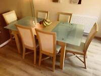 Maple Dining Table & 6 Chairs