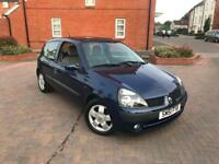 2001/51 RENAULT CLIO 1.4 DYNAMIQUE VERY LOW MILEAGE ONLY 37k 12 MONTHS MOT