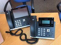 YEALINK T42G IP Phone x 3 YEALINK T48G SIP x 1 excellent condition £450 ONO