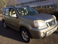 NISSAN X-TRAIL 2.5 PETROL SVE AUTOMATIC 2003 HEATED CREAM LEATHER SUNROOF PART EX TO CLEAR CAT D