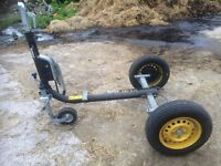 Bergische Achsen 1.5 tonne axle load heavy duty German made trailer chassis very little use
