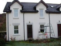 3 bedroom, modern, two story house to let. Cairnbaan on the Crinan Canal