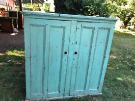 Old pine school cupboard