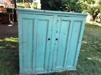 Old pine school cupboard