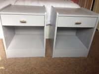 Light grey and gold side tables /bedside tables