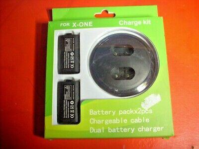 Kit 2 Batterie Controller Wireless + Base Ricarica + Cavo Per Xbox...