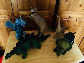 Bundle of five large dinosaurs.