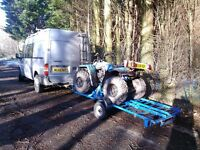 TRAILER suit quad bike motorbike or buggy with ramps, 750kg max