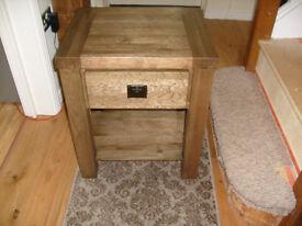 Bedside unit / cabinet solid oak