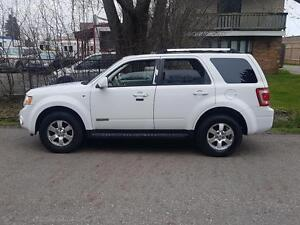 2008 Ford Escape Limited 4WD LEATHER SUNROOF LOADED CERTFIED$497