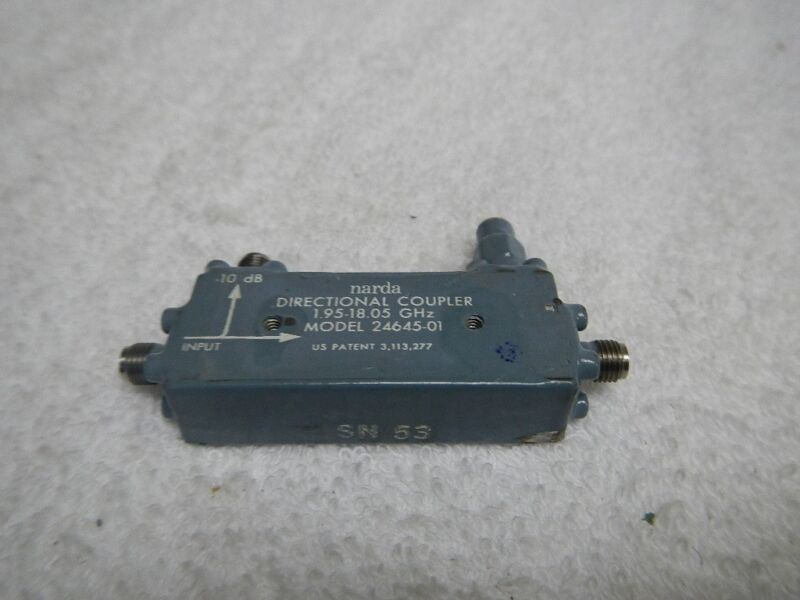 Narda 24645-01 Directional Coupler 1.95-18.05 GHz