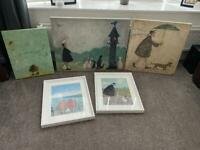 5 X SamToft canvas and framed prints