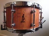 "Brady 12"" x 7"" She Oak Block Snare Drum-Mint Condition"