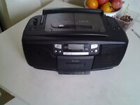 Large Boombox with twin CD,FM / AM Radio and Cassette