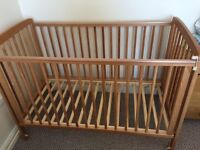 Cot with matress great condition