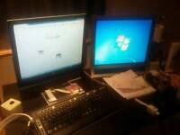 Desktop PC Pavilion Quad Core 3ghz 2 Monitors..and speakers