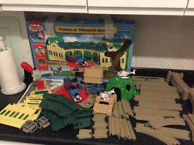 THOMAS TANK TRACKMASTER AT TIDMOUTH SHEDS SET - RARE & REMOTE CONTROL & SOUNDS - Can Post