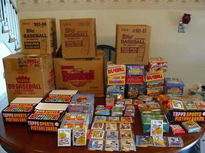 Unopened Vintage Baseball Card Packs From Old Mom And Pop Corner Store
