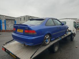 BREAKING Honda Civic EJ6 EK Coupe EBP Blue B16a2 With Modifications