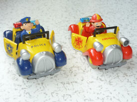TOY POLICE AND FIRE CARS