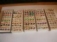 job lot 100 prs new earrings silver 925
