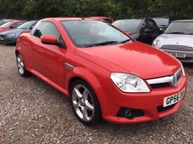 Vauxhall Tigra 1.4 i 16v Exclusiv Convertible 2dr,LONG MOT. HPI CLEAR. LEATHER SEATS. P/X WELCOME