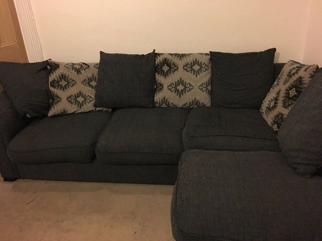 Black Fabric Corner Sofa In Southampton Hampshire Gumtree