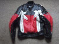 Ashman leather motorcycle jacket size UK46