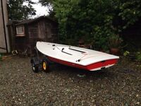 Laser Standard Sailing Dinghy with Road Trailer & Launching Trolley