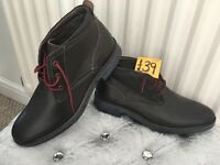 Mens BRAND NEW brown real leather boots size 7