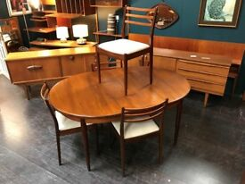 Dining Table & 4 Chairs by G Plan. Retro Vintage Mid Century