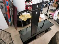 Black gloss Tv unit for large tv