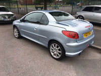 Peugeot 206cc 2003, Manual, Convertible, Leather Seats 2.0L