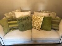 Selection Of 6 Green Themed Cushions Suited For Beds/sofa/chairs. From Next Home