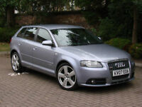 FINANACE AVILABLE!! 2007 AUDI A3 1.8 TFSI S LINE SPORTBACK S TONIC AUTO 5dr, FSH, FULL LEATHER
