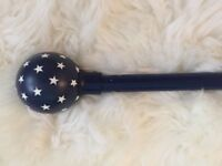 Next navy blue curtain pole stars boys bedroom childs