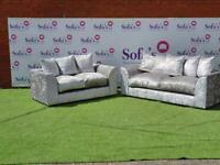 Brand new crushed velvet 3+2 seater sofa sets 😍🔥✅