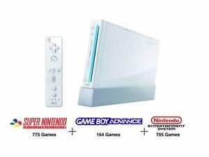 Nintendo Wii with over 1500 Retro Games Inbuilt - NES SNES GBA Adelaide CBD Adelaide City Preview