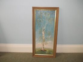 Oil painting of tree very good condition