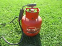 calor propane 3.9 kg empty gas cylinder with blow lamp