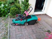 BOSCH ROTAK 34 LAWNMOWER- 1400W with grass box