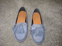 Next flat moccasin shoes size 4 and 1/2