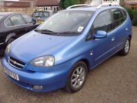 2008 Chevrolet Tacuma CDX Plus 2.0 Petrol Automatic Blue 5 Door MPV Low Miles Spacious Family Car