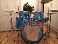 Ludwig Vistalite Blue Drumkit 1970s