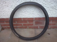 A brand new and unused MTB tyre
