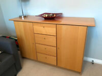 Gloss finish wooden kitchen/living room sideboard