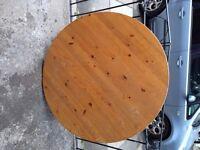 SOLID PINE CIRCULAR KITCHEN/DINING TABLE 110 CM DIAMETER FOUR LEGS