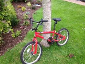 """Red BMX boy bicycle 16"""" Excellent condition!"""